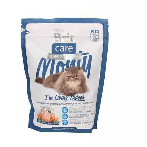 Brit care cat monty i'm living indoor 0,4 kg ## charytatywny sklep ## 100% zysku sklepu na pomoc psiakom:)