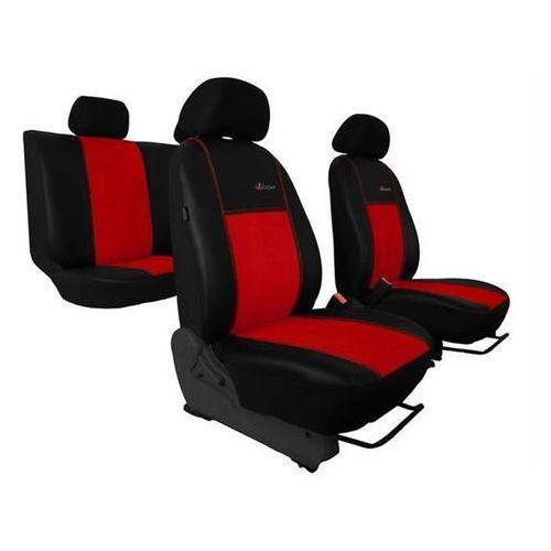 Pok-ter skóra alkantara czerwone pokrowce samochodowe opel astra g 1998-2009 - czerwony