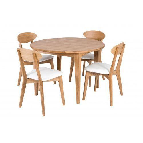 Signu Design Zestaw do jadalni - Stół + Krzesła Scandik