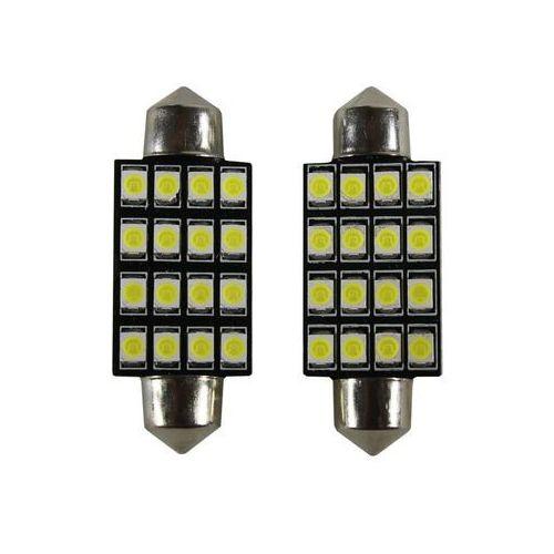 Żarówka samochodowa LED C5W, 16 X LED, 41MM + Bezpłatna natychmiastowa gwarancja wymiany!, 15005