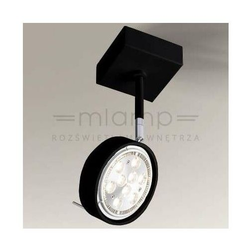 Spot LAMPA sufitowa FUSSA 2218/G53/CZ Shilo metalowa OPRAWA reflektorowa SPOT regulowany czarny (5903689973076)