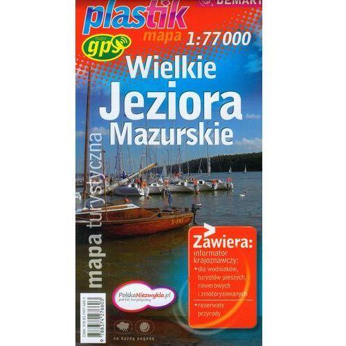 Wielkie Jeziora Mazurskie mapa turystyczna