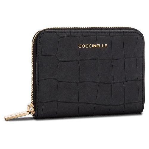 Duży portfel damski - cw7 metallic mat croco e2 cw7 11 02 01 noir 001 marki Coccinelle