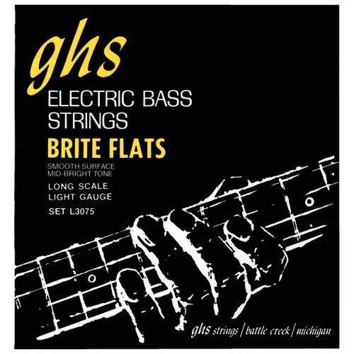brite flats struny do gitary basowej 4-str. light,.045-.098 marki Ghs