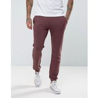 Farah Shalden Slim Fit Jersey Joggers in Red - Red