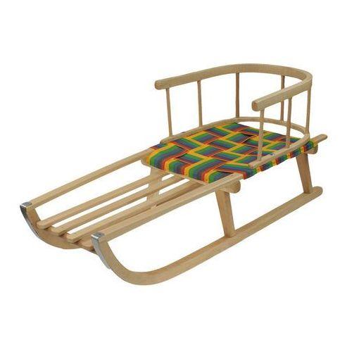 Sanki drewniane siedzisko parciane z oparciem (4578963568968)