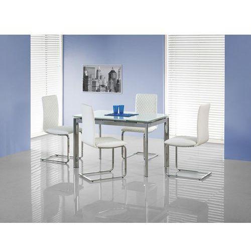 Rozkładany szklany stół lambert biały marki Halmar