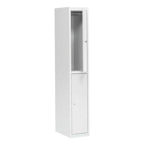 Szafa ubraniowa COACH, 300 mm, 2 drzwi, szary