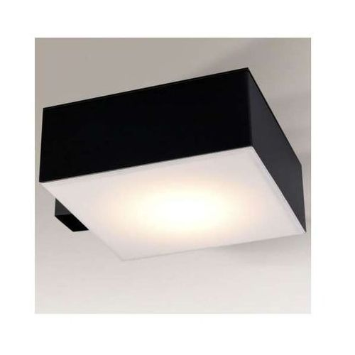 Shilo Plafon lampa sufitowa zama 8014/gx53/cz kwadratowa oprawa do łazienki ip44 czarna