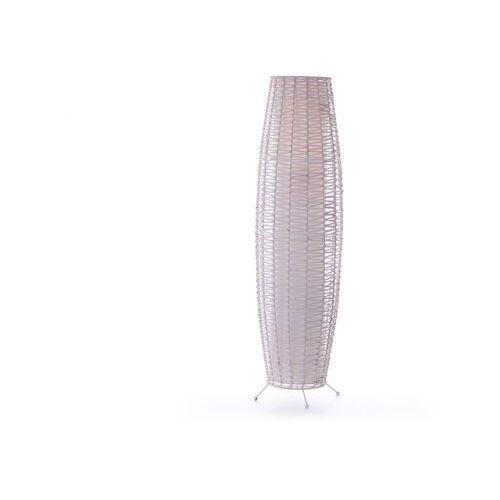 Rattanowa lampa podłogowa na nogach birma - śred. 29 cm x wys. 105 cm - złamana biel marki Vente-unique