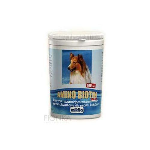 amino biotin maxi mieszanka witaminowa dla psów i kotów w tabletkach marki Mikita