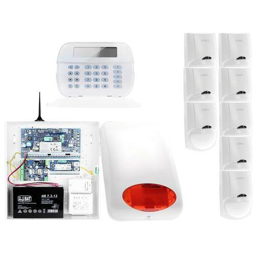 Dsc Za12547 zestaw alarmowy 8x czujnik ruchu manipulator lcd powiadomienie gsm