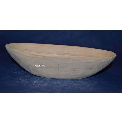 Naczynie drewniane - miska dł. 25 cm, szer. 11 cm