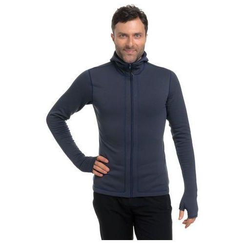 Bluza polarowa z kapturem 080080 - cinder/ granatowy marki Kwark