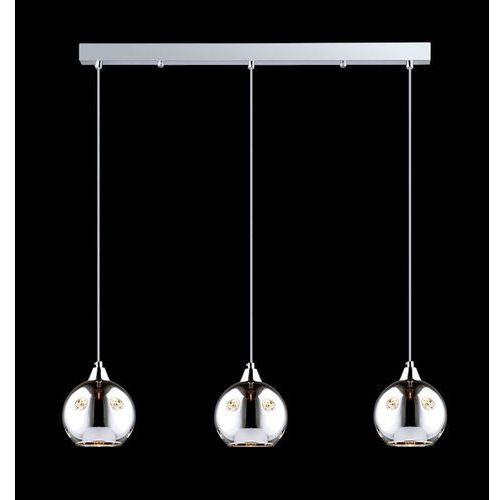 Lampa wisząca Italux Martin MDM1671/3 zwis żyrandol 3X40W E14 chrom, MDM1671/3