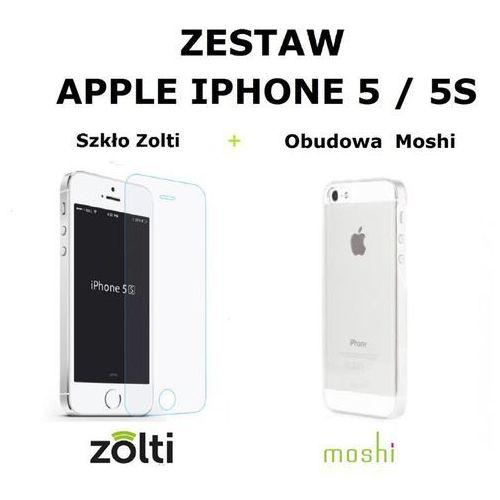 Zestaw obudowa Moshi iGlaze + szkło hartowane Zolti iPhone 5 / 5S / 5SE