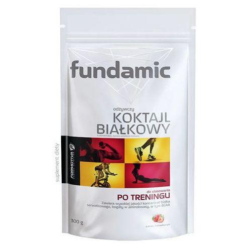 Aflofarm Fundamic odżywczy koktajl białkowy o smaku truskawkowym 300g