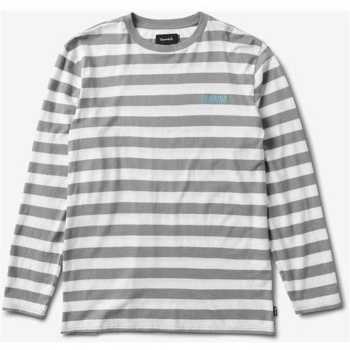 Koszulka - diamond striped l/s tee grey/white (grwh) rozmiar: xl marki Diamond