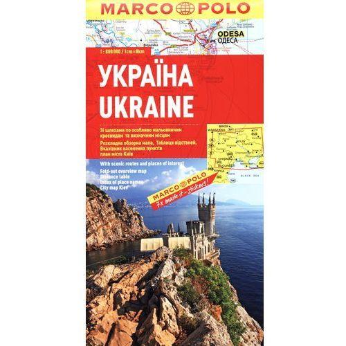 Ukraine. Mapa samochodowa Marco Polo w skali 1:800 000, DAUNPOL