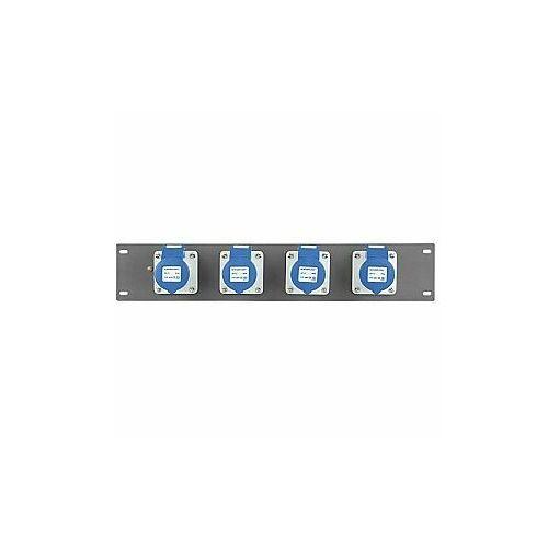 """Showtec PDP-1643 Rozdzielnia zasilająca na panel rack 19"""" 4 x CEE 16A 3 p (8717748028617)"""
