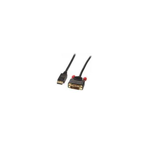 Kabel LINDY DisplayPort - DVI 2m Czarny (41491) Darmowy odbiór w 20 miastach!