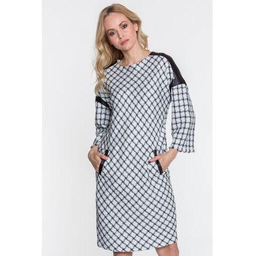 Margo collection Sukienka w plecioną kratę -