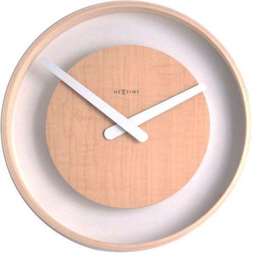 Nextime - zegar ścienny wood loop 30 cm - naturalne drewno