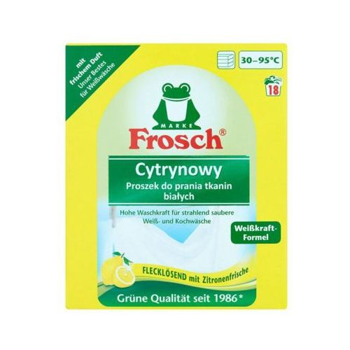 FROSCH 1,35kg Cytrynowy proszek do prania tkanin białych (18 prań)