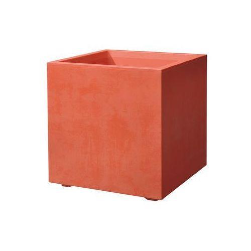 Donica balkonowa 39 x 39 cm plastikowa czerwona CUBO MIL DEROMA (0726232763376)