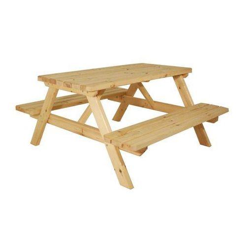 Zestaw piknikowy, ogrodowy - bez obróbki powierzchni - 150 cm