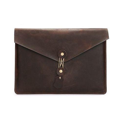 Skórzany pokrowiec TECH-PROTECT Leather | Apple MacBook Air / Pro 13 - Brązowy (99999704)
