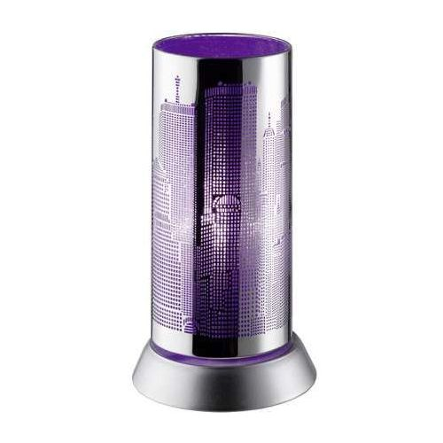 Trio rl city r50081092 lampka stołowa biurkowa 1x30w e14 chrom / fioletowy (4017807236132)