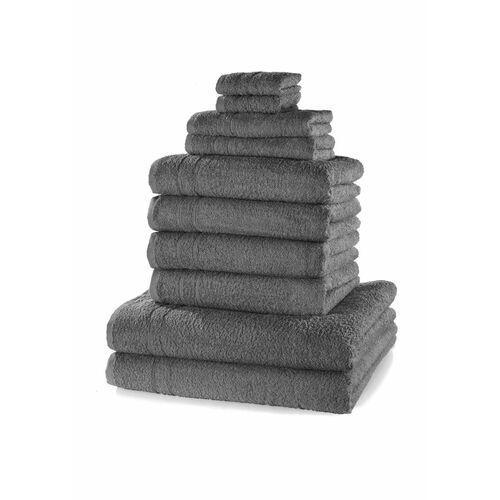 Komplet ręczników (10 części) bonprix antracytowy