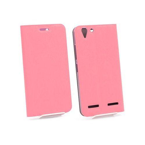 Etuo flex book Lenovo k5 plus - pokrowiec na telefon - różowy