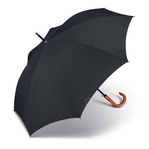 Pierre Cardin Voltaire długi męski parasol automatyczny Long AC 62/8 - czarny prążkowany (4012428808874)