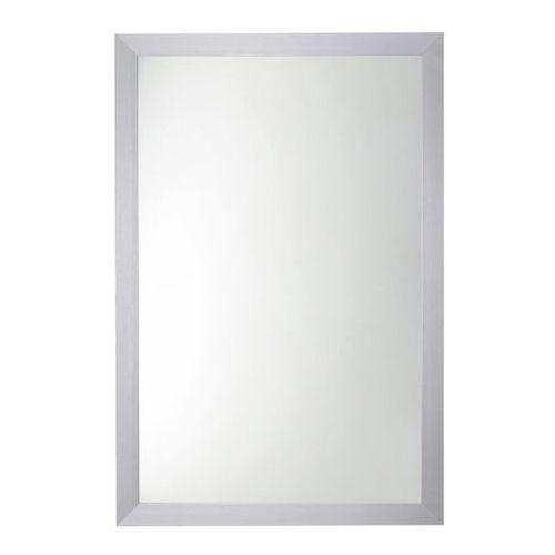Lustro prostokątne 90 x 60 cm w ramie szare (3663602942214)