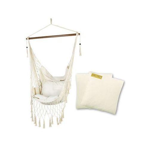Fotel hamakowy z poduszkami, ecru HC11p