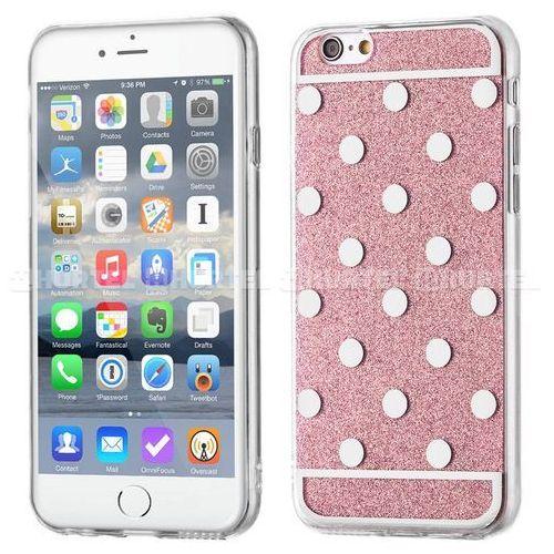 WOZINSKY żelowy pokrowiec Shiny Case brokat iPhone SE 5S 5 kropki różowy - Różowy z kategorii Futerały i pokrowce do telefonów