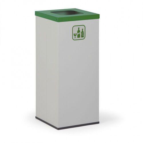Kosz do segregacji śmieci, 50 l, bez wewnętrznego pojemnika, szary/zielony