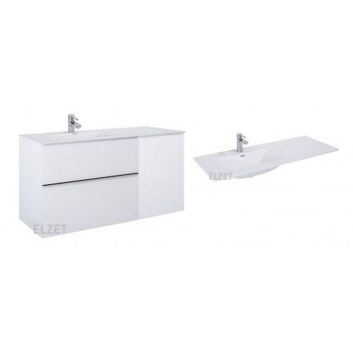 szafka look 2s white matt + kontener z drzwiami + umywalka skappa 120 167596.167610.145915/145925 marki Elita