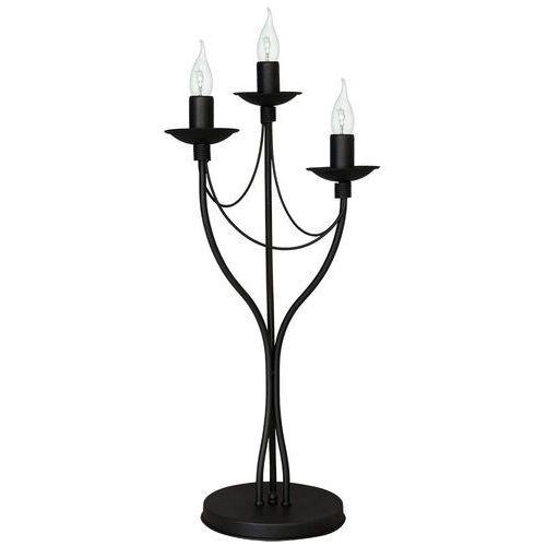 Lampa lampka oprawa biurkowa klasyczna świecznikowa Aldex Róża 3x40W E14 czarny 397B1D (5904798642020)
