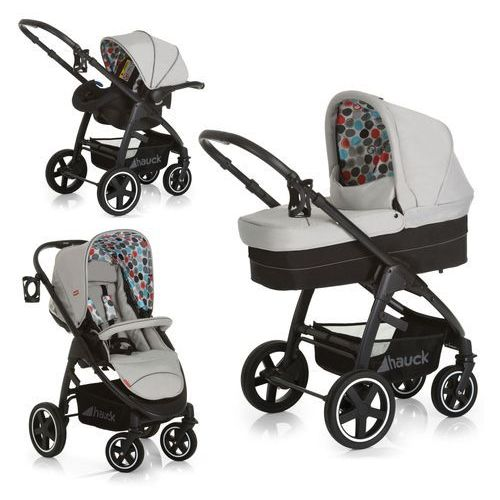 Hauck wózek spacerowy fisher-price montreal plus trioset 2019 gumball grey (4007923143223)