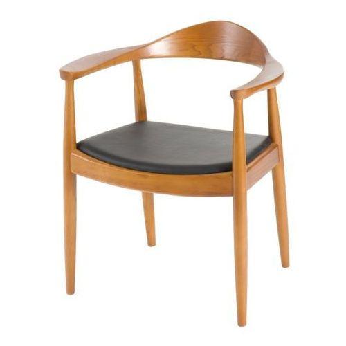 Krzesło President inspirowane Kennedy - brązowy jasny, kolor brązowy