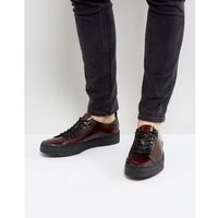 x george cox creeper leather shoes in red - red, Fred perry