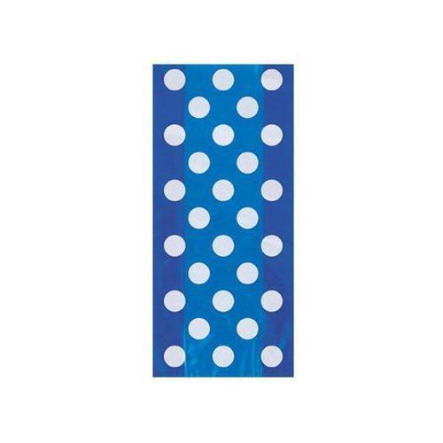 Torebki prezentowe niebieskie w białe kropki - 28,5 x 12,5 cm - 20 szt. (0011179620647)