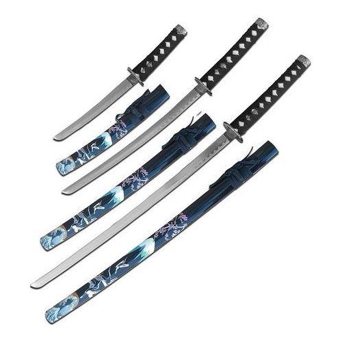 Usa Zestaw mieczy samurajskich katana, wakizashi, tanto sw-84bk-4