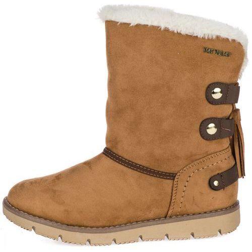 buty zimowe damskie 38 żółty, Tom tailor