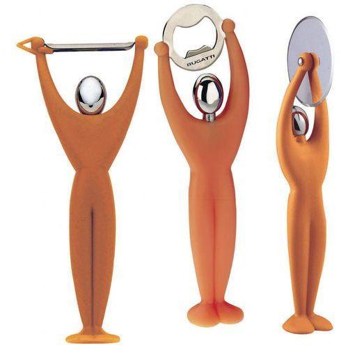 Casa bugatti - gym zestaw 3 przyborów - pomarańczowy - pomarańczowy