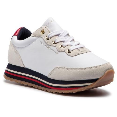 Sneakersy - tommy retro runner fw0fw03690 white 100 marki Tommy hilfiger