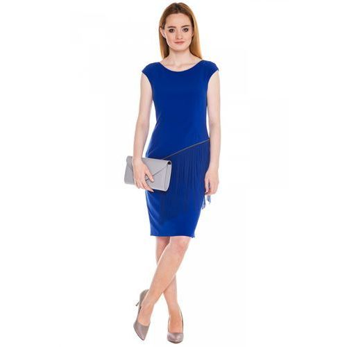 Niebieska sukienka z frędzlami - Vito Vergelis